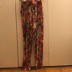 Mika & Gala LF Printed Pant Joggers Sz 6/Small